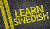 Learn Swedish written on the road