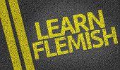 Learn Flemish written on the road