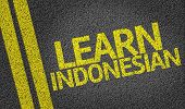 Learn Indonesian written on the road