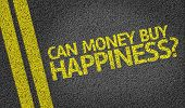 Can Money Buy Happiness? written on the road