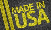 Made in USA written on the road