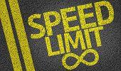 Speed Limit written on the road