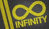 Infinity written on the road