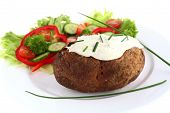 Baked Potato And Cream Cheese