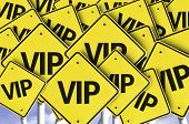 VIP written on multiple road sign