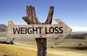 Weight Loss wooden sign with a desert background