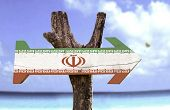 picture of tehran  - Iran sign with a beach on background  - JPG