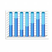vector 3d cylinder chart diagram blue graph