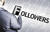 Business man with the text Followers in a concept image