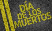Day of the Dead (In Spanish) written on the road