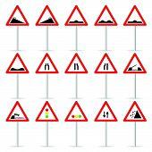 Road Sign Color Vector Art Illustration