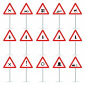 Road Sign Color Vector