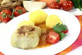 Stuffed Cabbage With Potatoes And Gravy