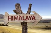 Himalaya wooden sign with a desert background