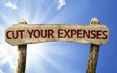 Cut Your Expenses sign on a summer day