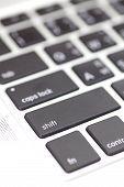 Close - up keyboard button at computer notebook