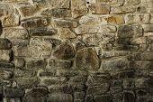 Closeup of brown rock wall