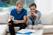 Young Couple Having Financial Problems