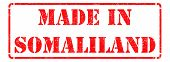 Made in Somaliland on Red Stamp.