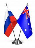 Russia and Australia - Miniature Flags.