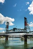 Hawthorne Drawbridge In Portland, Oregon