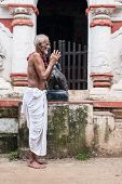 Old Oriyan Priest Praying.
