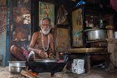 Streetside cook - East India.