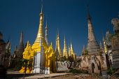 Ancient Buddhist Temple In The Area Of The Famouse Inle Lake In Myanmar.