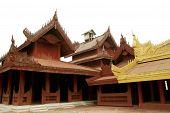 Ancient Wood Art In Mandalay Palace,Myanmar.