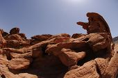 Sandstone sculptures, in Valley of Fire state park,Nevada,USA