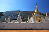Pagoda in Temple of Pindaya City, Myanmar.