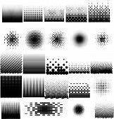 Halftone Patterns Set vector