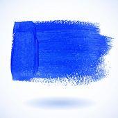 Blue grunge Watercolor Banner. Vector illustration