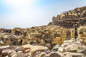 Ruins Su Nuraxi Nuraghe Near Barumini In Sardinia
