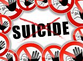 No Suicide Abstract Concept