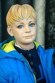 Mannequin - Blond boy with anorak