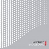 Abstract Gray - White Halftone Background