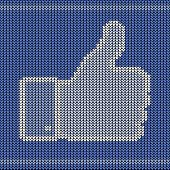 knitted thumb up