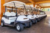 pic of buggy  - Golf buggy parked - JPG