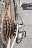 rusty gear bicycle