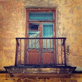 Old Balcony, Stylized Photo By Vintage