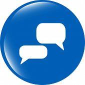 White Bubble Speech Set Icon,web  Button