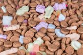 Background Of Dutch Ginger Nuts And Sweets