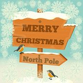 picture of north-pole  - Christmas Greeting Card  - JPG