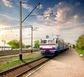 Train on station