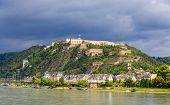 View Of Fortress Ehrenbreitstein In Koblenz, Germany