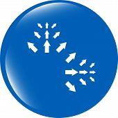 Arrow Sign Icon Set. Simple Circle Shape Internet Button