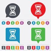 Vector Hourglass sign icon. Sand timer symbol.