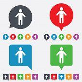 Vector Human male sign icon. Person symbol.