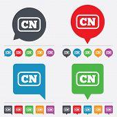 Vector Chinese language sign icon. CN China translation